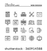 web design  coding  responsive  ... | Shutterstock .eps vector #360914588