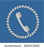 white telephone with coiled... | Shutterstock .eps vector #360915602