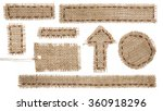 Burlap Fabric Tag Label  Rusti...