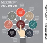 infographics step by step.... | Shutterstock .eps vector #360922352