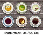 set of cups of coffee and tea.... | Shutterstock .eps vector #360923138