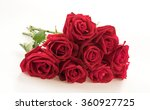 Stock photo red rose on white background 360927725