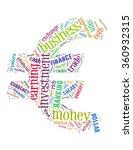 euro money cloud concept on...   Shutterstock . vector #360932315