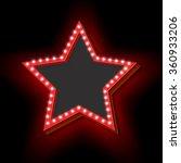 neon retro star. the symbol...   Shutterstock .eps vector #360933206