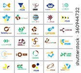 unusual icons set   isolated on ...   Shutterstock .eps vector #360944732