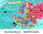 a vector illustration of europe ... | Shutterstock .eps vector #360952628