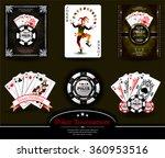 poker chip.casino background...   Shutterstock .eps vector #360953516