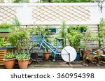 bicycle pump water in garden... | Shutterstock . vector #360954398