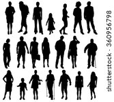 vector silhouettes of different ... | Shutterstock .eps vector #360956798
