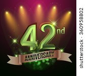 42nd anniversary  party poster  ... | Shutterstock .eps vector #360958802