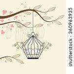 vector white doves | Shutterstock .eps vector #360963935