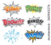comic text  bomb explosions and ... | Shutterstock .eps vector #360965276