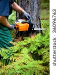 a woodcutter at work in the... | Shutterstock . vector #36096763