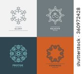 logos templates in style with...   Shutterstock .eps vector #360972428