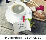heart shaped  cookies  big and... | Shutterstock . vector #360972716