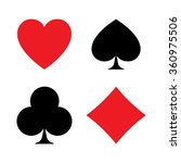 set of vector playing card... | Shutterstock .eps vector #360975506