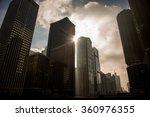 chicago skyline at sunset  | Shutterstock . vector #360976355