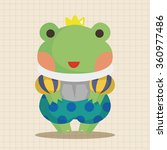 frog prince theme elements | Shutterstock .eps vector #360977486