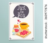 valentine's day greeting card... | Shutterstock .eps vector #360977876