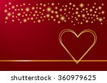 two golden hearts are in the... | Shutterstock .eps vector #360979625