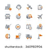 shipping and tracking icons   ... | Shutterstock .eps vector #360983906