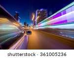 blurred urban look of the car... | Shutterstock . vector #361005236