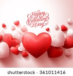 happy valentines day background ... | Shutterstock .eps vector #361011416