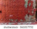 red peeling paint on wood 3 | Shutterstock . vector #361017752