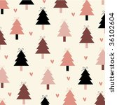 vector christmas tree... | Shutterstock .eps vector #36102604