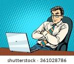 good businessman at laptop | Shutterstock .eps vector #361028786