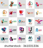collection of colorful abstract ... | Shutterstock .eps vector #361031336