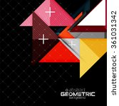 colorful geometric shapes with... | Shutterstock .eps vector #361031342