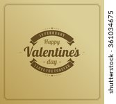 happy valentine's day greeting... | Shutterstock .eps vector #361034675