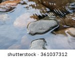 Natural Stones In Water.