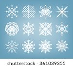 beautiful vector snowflakes set ... | Shutterstock .eps vector #361039355