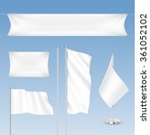 vector set of white blank flags ... | Shutterstock .eps vector #361052102