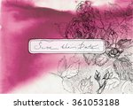 watercolor vector handmade... | Shutterstock . vector #361053188