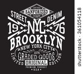 denim new york typography  t... | Shutterstock .eps vector #361054118