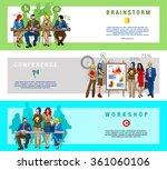 horizontal flat banners set of...   Shutterstock .eps vector #361060106
