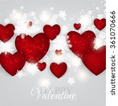 valentine's day party... | Shutterstock .eps vector #361070666