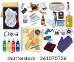 tattoo tools  machine  power... | Shutterstock .eps vector #361070726