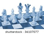 chess pieces on board   white... | Shutterstock . vector #36107077