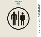 male and female restroom symbol ... | Shutterstock .eps vector #361070786