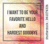 inspirational typographic quote ... | Shutterstock . vector #361076336