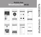 mobile wireframe app ui kit 35. ...