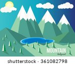 mountain background. lake | Shutterstock .eps vector #361082798