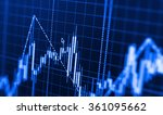 stock market graph and bar... | Shutterstock . vector #361095662