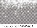lights on transparent... | Shutterstock .eps vector #361096412