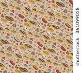 bakery cakes  pie  dessert... | Shutterstock .eps vector #361099028