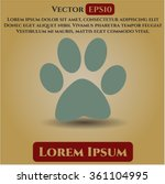 paw symbol | Shutterstock .eps vector #361104995